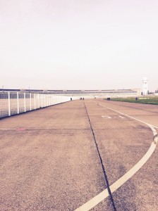 Sunday bike ride down the old runway at Templehof